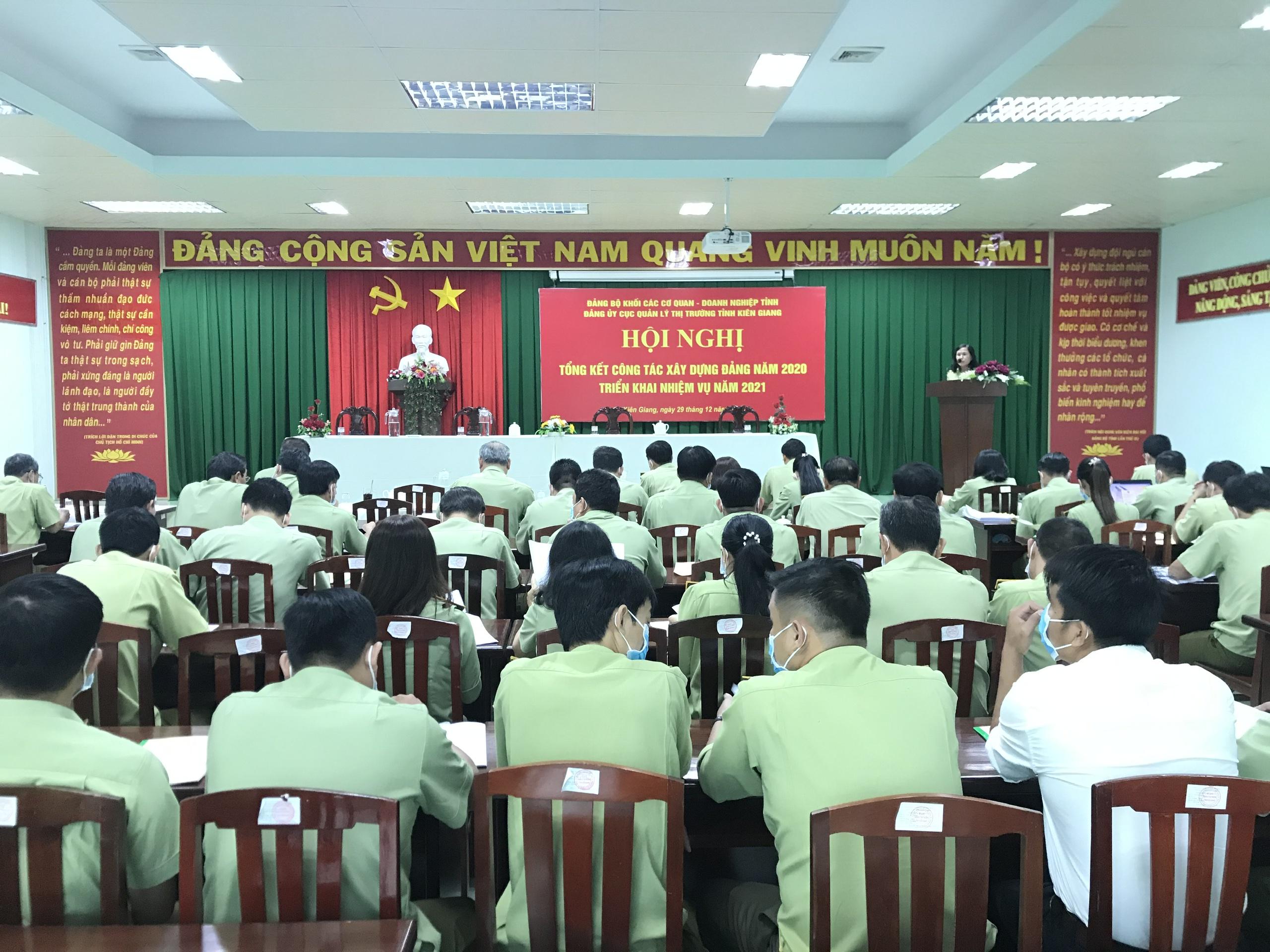 Đảng ủy Cục Quản lý thị trường tỉnh Kiên Giang tổ chức Hội nghị tổng kết công tác xây dựng Đảng năm 2020, triển khai nhiệm vụ năm 2021.